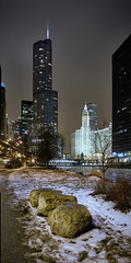 River bank (Explored Jan 18) (another_scotsman) Tags: chicago cityscape night river samyangts panorama