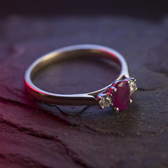 Ruby & Diamond Ring (Adaptalux) Tags: macro macrophotography lighting crowdfunding kickstarter photograph amazingcolour nofilter photooftheday amazing order closeup studio photography professional product adaptalux texture orange green creative colour colourful colours gold ring jewellery jewel engagement wedding