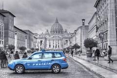 POLIZIA (mmalinov116) Tags: polizia police blue rome italy monochrome mono vatican roma рим италия ватикана полиция capital city cityscape lazio stpetersbasilica