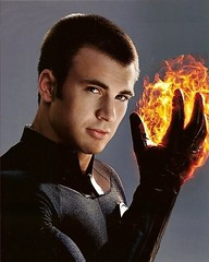 Human Torch (Guardian Screen Images) Tags: fantastic four movie costumes new torch spandex human chris evans super hero superhero superheros superheroes marvel comic comics rise silver surfer sequel 2 second 2nd two book books heroes heros film lycra tight tights johnny 4 storm fire