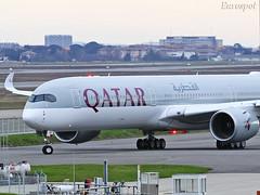 F-WZNR (@Eurospot) Tags: fwznr a7ana airbus a350 a3501000 qatar toulouse blagnac