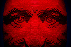 Blood Red (KC Mike Day) Tags: lego brick art exhibit station union face red blood shadow texture design