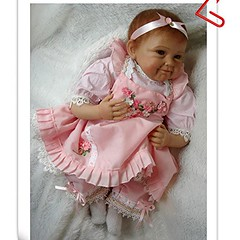 FCH 22 Inch Silicone Vinyl Washable Soft Body Lovely Simulation Reborn Vivid Baby Doll in Suspender Dress Pink Fashionable Magnetic Mouth Lifelike Boy Girl Toy (saidkam29) Tags: baby body doll dress fashionable girl inch lifelike lovely magnetic mouth pink reborn silicone simulation soft suspender vinyl vivid washable