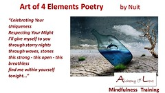 Celebrating your uniqueness Art of 4 Elements Poetry by Nataša Pantović Nuit (Alchemy of Love Mindfulness Training Nuit) Tags: unique poem highest potential alchemy nuit spiritual poetry spirituality books mind soul spirit