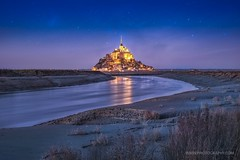 A night in Le Mont St. Michel ([ priotography ]) Tags: fuji lemontsaintmichel fujifilm xpro1 france st michel 35mm xf fujifilmxpro1 fairy tales