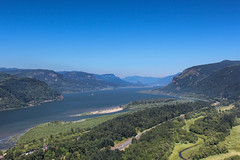 Columbia River Gorge (Oleg S .) Tags: water mountains usa flickr oregon columbiarivergorge river nature