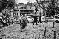 Street 436 (`ARroWCoLT) Tags: kadıköy streetphotography sokak people blackwhite bw art arrowcolt monochrome bnwdemand bnwpeople bnw bnwstreet ishootpeople blackandwhite outdoor portrait streetportrait turkey türkiye istanbul bisiklet bike bicycle nxmini road car building