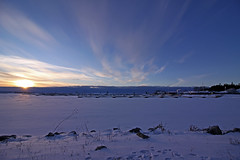 Sunset   IMG_6737ed (juststopandlook) Tags: sunset snow sky clouds peter harbour