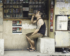 Lazy Sunday (Beegee49) Tags: street beer san miguel bottled man convenience store bacolod city philippines