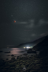 Blue Super Blood Moon 2018 (Digital Thangka) Tags: red lunareclipse moon eclipse bay beach rocks island islandlife chaloklum hing ngam hingngam thailand longexposure