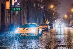 Ferrari 458 Speciale under the Parisian rain (damien911_) Tags: ferrari 458 speciale v8 supercar nikon d750 night rain 50mm yellow paris