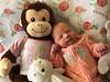 It's a Girl ! (Jill Clardy) Tags: charlotte granddaughter grandchildren grandma newborn birth birthday infant girl baby monkey scripps memorial hospital room bed littlesister 365the2018edition 3652018 day22365 22jan18