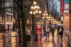 The Yellow Brick Road 🚶☔ Vancouver, BC (Michael Thornquist) Tags: gastown raincouver city streetphoto reflection sett sidewalk crosswalk rain umbrella gaslamp abbottstreet waterstreet sharethecoast vancouver vancouverbc 604now photos604 explorebc explorecanada canoncanada ilovebc britishcolumbia pacificnorthwest pnw canada 500px