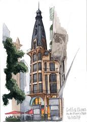 Av. de Mayo Este / East de Mayo Av.: (ftessa) Tags: sketchbook buenosaires argentina croquis croquiserosurbanos avenidademayo sketches sketch urbansketchers