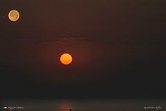 ALBA  in explore ! (Salvatore Lo Faro) Tags: rodi lidodelsole gargano puglia italia italy luna sole alba rosso nuvole maresalvatore lofaro nikon 7200