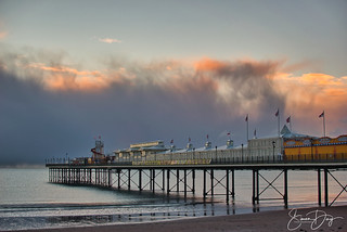 The passing of the snow clouds in Paignton, Devon