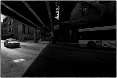 shadows (deszpuna) Tags: blackandwhite bw chicago chicagostreetphotography streetphotography cta ctabus bus chicagotransitauthority