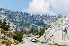 Driving through Yosemite (adamrferry) Tags: yosemite yosemitenationalpark nationalpark mountain mountainside road travel car drive driving california usa trees sky clouds roadtrip californiaroadtrip