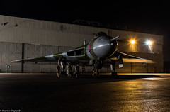 Outside the Hanger (Articdriver) Tags: aircraft airfield vulcan bomber southend essex xl426 night raf vbomber nuclear