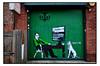 STREET ART by LORETTO (StockCarPete) Tags: streetart londonstreetart urbanart graffiti loretto london uk frankenstein frankensteinsmonster match dating computer dog computerdating