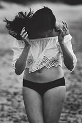 Siobhan - Wangetti Beach (Rob Harris Photography) Tags: beautiful beauty babe beach celtic girl gorgeous female feminine model modelling naturallight naturalbeauty overcast outdoors woman photoshoot swimwear bikini summer lifestyle grunge gritty