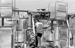 ontario tobacco harvest (cpt. willard) Tags: 1988 canada ontario ontarioyourstodiscover burford primingmachine kiln brantcounty farm summer farmer