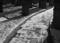 TowardsLight (Tony Tooth) Tags: nikon d7100 tamron 2470mm footpath path walkway bw blackandwhite monochrome snow snowy sunny sunlight churchyard stedwards leek sraffs sraffordshire