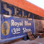 recently uncovered Selz Shoe wall ad - Columbia, TN thumbnail
