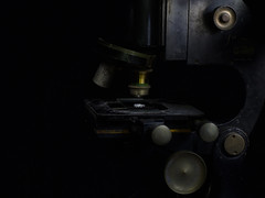 Old Microscope (Ed Phillips 01) Tags: light painting sculpting still life stilllife microscope