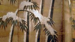 Tosa Mitsunobu (attribution), Bamboo in the Four Seasons
