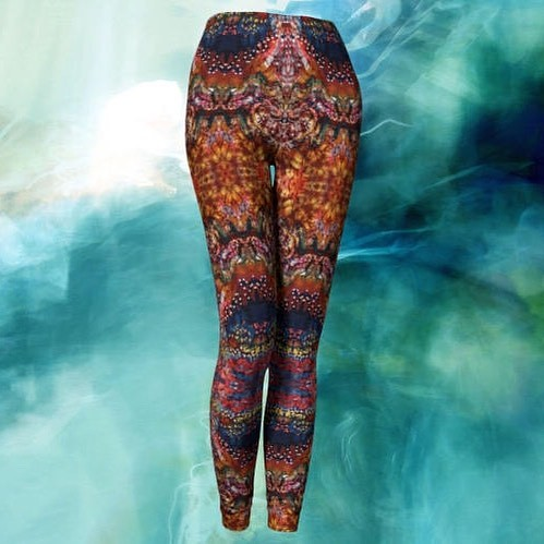 Excited to share the latest addition to my #etsy shop: Leggings & Capris - Carnival Batik http://etsy.me/2D6IqH3. For Yoga or exercise Batik art leggings #batikclothing #yogawear #amityfarmbatik