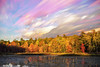 Early Autumn Sunset (Matt Molloy) Tags: mattmolloy timelapse photography timestack photostack movement motion colourful sky sunset clouds lines trails pond water reflection trees autumn lilypads grass burnthills ontario canada landscape nature countryside lovelife
