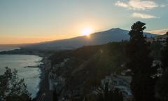 Taormina (Andrea Schaffer) Tags: italie italia italy 2017 december winter europe southernitaly sicilia sicily sicile sizilien taormina mtetna sunset volcano σικελία sicilija صقلية sicilya taormine