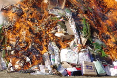 Traditional Burning of New Year Items (runslikethewind83) Tags: japan fire newyear religion burning 2018 tokyo asia culture tradition 六郷土手 火 日本 正月 どんど焼き