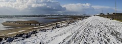 SNOW ON THE BEACH (coffee robbie..PROTECTED BY PIXSY) Tags: snow beach youghal cork ireland nikond5100 nikon kitlens sea panorama beastfromtheeast