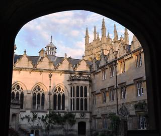 Oriel College First Quadrangle, Oriel street, Oxford, Oxfordshire, Angleterre, Royaume-Uni.