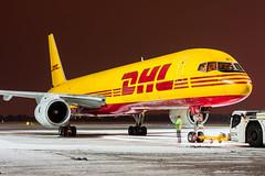 DHL Air / Boeing 757-200F / G-BMRH / Warsaw Chopin Airport / 16.01.18 (Marcin Sikorzak) Tags: dhl air boeing 757200f gbmrh warsaw chopin airport 160118
