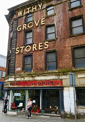 Withy Grove Stores, Manchester, UK (Robby Virus) Tags: manchester england uk unitedkingdom britain greatbritain mcr withy grover stores business closed signage sign safes office furniture