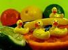 swimming in a citrus sea (muffett68 ☺ heidi ☺) Tags: macromondays citrus tiny duckies lemon lime orange