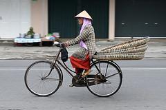 birdcycle (Syarafuddin) Tags: documentary bicycle yogyakarta indonesia streetphotography caping tambir woman older red traditional