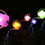 Guardian Angels — colourful, floating watering cans thumbnail