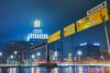 Dortmunder U (DanGrothe) Tags: dortmund city uturm u cars lights reflections rain street longexposure night a7r