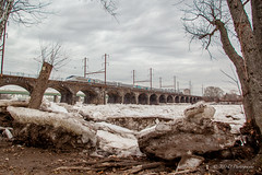 Gloomy Day By The River @ Morrisville, PA (Darryl Rule's Photography) Tags: 2018 acs64 amtk acela acelaexpress amtrak buckscounty citiessprinter clouds cloudy delawareriver ice icechunks january morrisville nj njtransit njt newjersey pa pennsylvania septa siemens silverliner silverliners train trains trenton winter