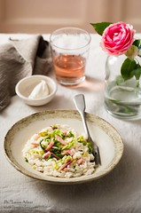 Risotto with cabbage and speck (Laura Adani) Tags: cabbage carnaroli cheese copyspace foodanddrink healthyfood italianfood kitchen lunch maindish meal nutrition recipe rice risotto savoycabbagge speck stewedcabbage stilllife vertical winter
