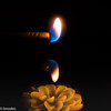 Double Barrel (brookis-photography) Tags: macromonday flame candle light double flowercandle