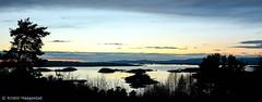 The Oslofiord at dawn (K. Haagestad) Tags: sunset oslofiord oslofjorden sky silhouettes tree winter oslo ekeberg