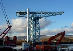 The Titan (Rollingstone1) Tags: titan clydebank shipbuilding shipyard crane dock basin westdunbartonshire scotland museum maritime ngc tower industrial industry hills sky landscape