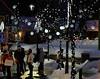 Sport d'hiver: shopping (bd168) Tags: winter shopping hiver neige soir colours night lights lumières people personnes fujifilm 90mm xt10 bokeh