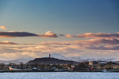 The Inch (ibriphotos) Tags: lightpainting sunset workshop abandoned s1 lhscreativecareers wallacemonument benledi firstyear mountains riverforth stirlingcastlestirling abandonedscotland larbert southalloa snow evening goldenhour sky sunsets sel55210