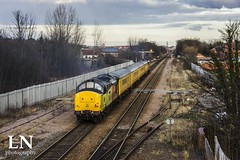 Trailing behind (The Return of Bluke's Photography) Tags: colas rail class 37 37254 network test train railfreight freight pontefract monkhill